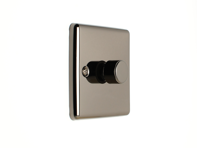 Black Nickel Single 1 Gang Dimmer Switch
