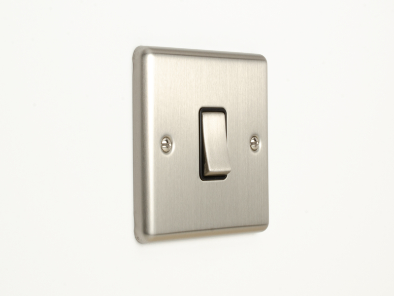 Brushed Chrome Intermediate 1 Gang 3 Way Switch