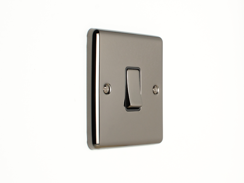 Black Nickel Single 1 Gang 2 Way Switch