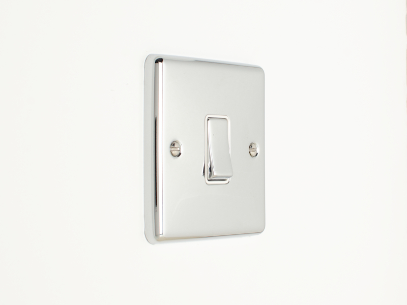 Polished Chrome Single 1 Gang 2 Way Switch