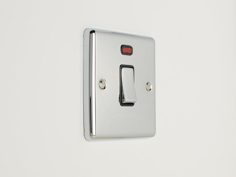 Polished Chrome 20Amp Switch with Neon