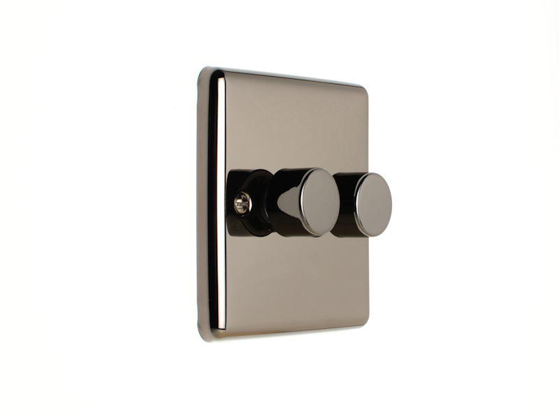 Black Nickel Double 2 Gang Dimmer Switch