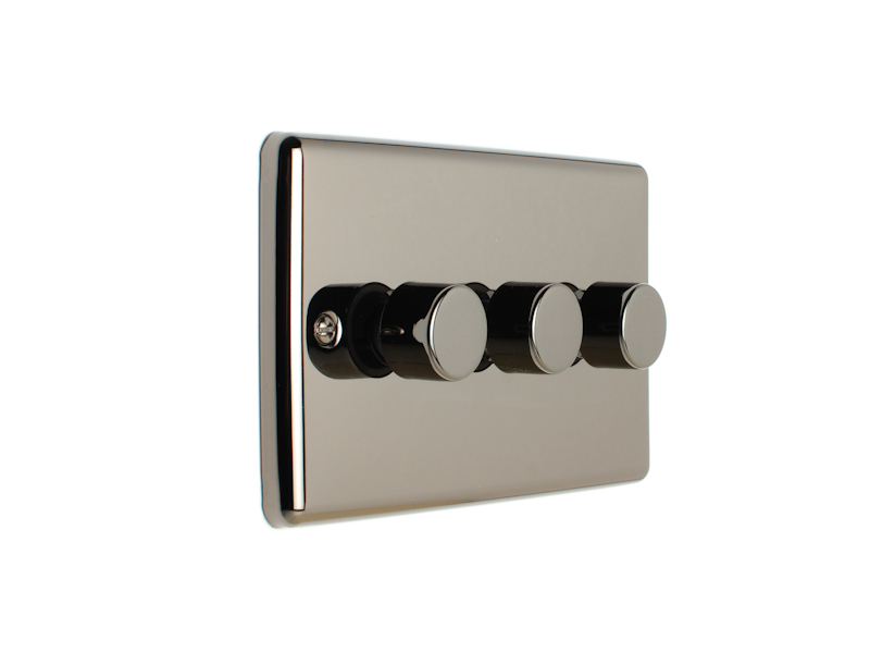 Black Nickel Triple 3 Gang Dimmer Switch