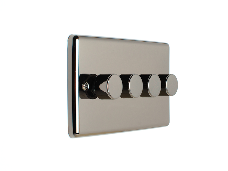Black Nickel 4 Gang Dimmer Switch