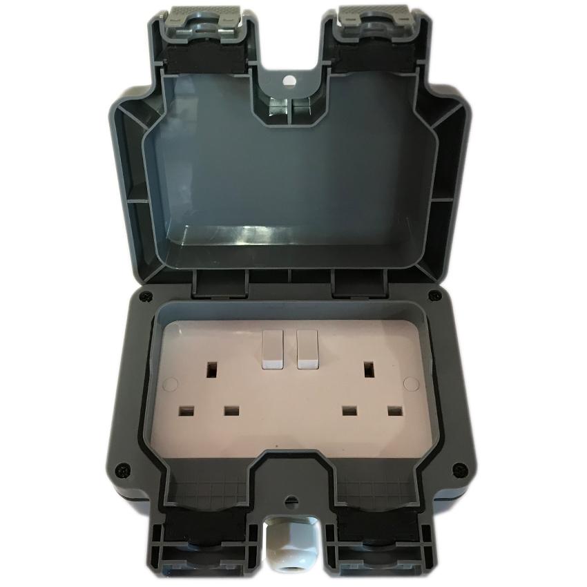 Outdoor garden extension lead socket box IP65 Rated