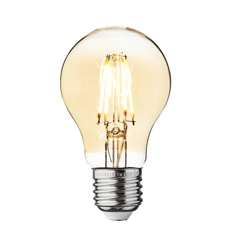 5w Dimmable Vintage E27 LED Filament A60 Bulb