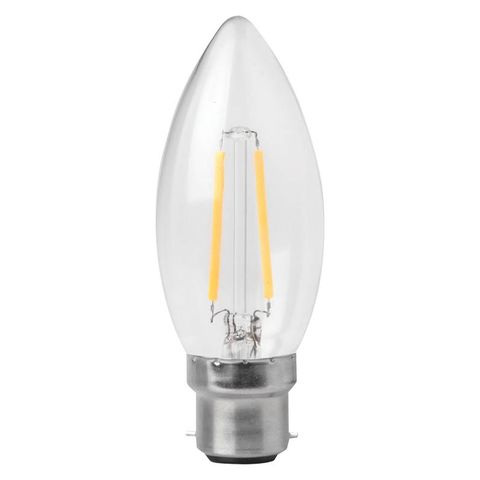 3w Non Dimmable B22 LED Filament Candle Bulb