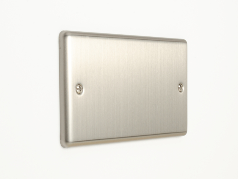 Brushed Chrome Double Blanking Plate