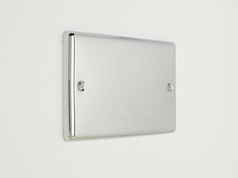 Polished Chrome Double Blanking Plate
