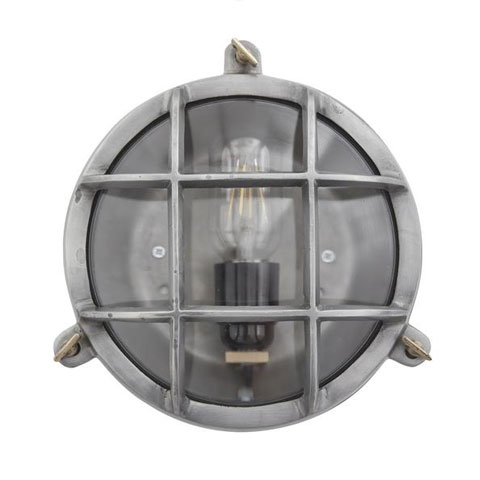 Industville Vintage Industrial Heavy Round Bulkhead Retro Wall Light/Flush Mount