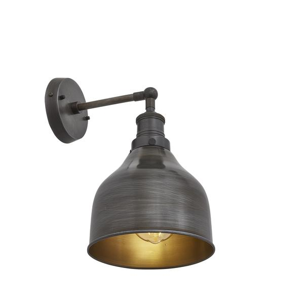 Industville Brooklyn Wall Lamp 7 inch Dark Pewter