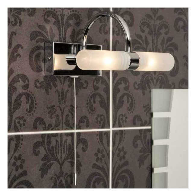 Forum Lighting Spa Corvus Chrome 2 Light Wall Light
