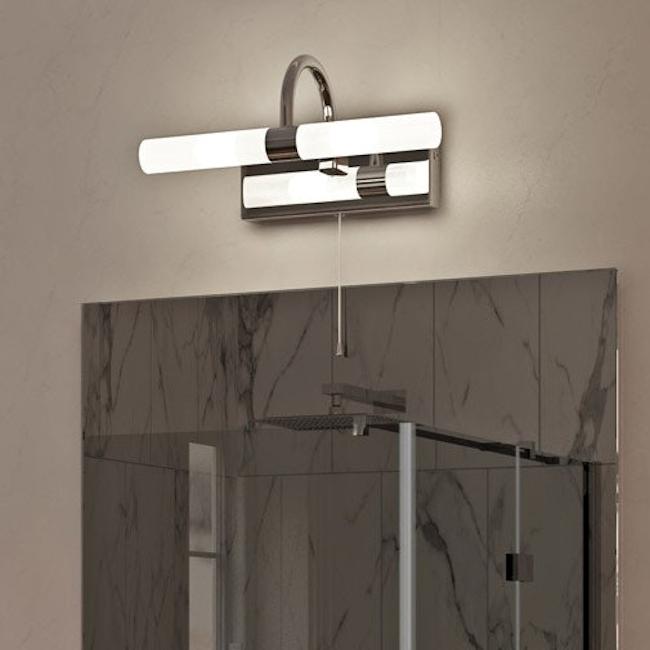 Forum Lighting Spa Corvus Chrome 2 Light Wall Light
