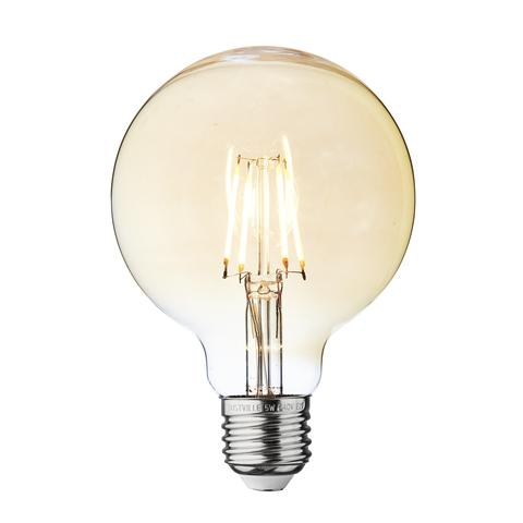 5w Dimmable Vintage E27 LED Filament G95 Small Globe