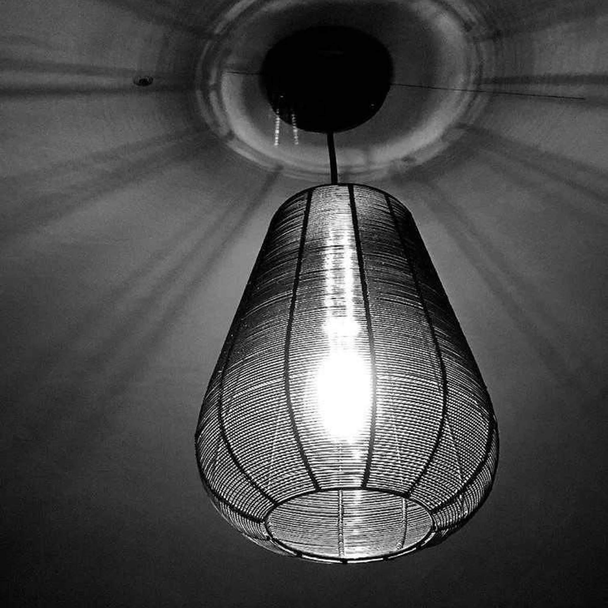 Industville Handcrafted Unique Vintage Cage Wire Metal Pendant Light - Drop