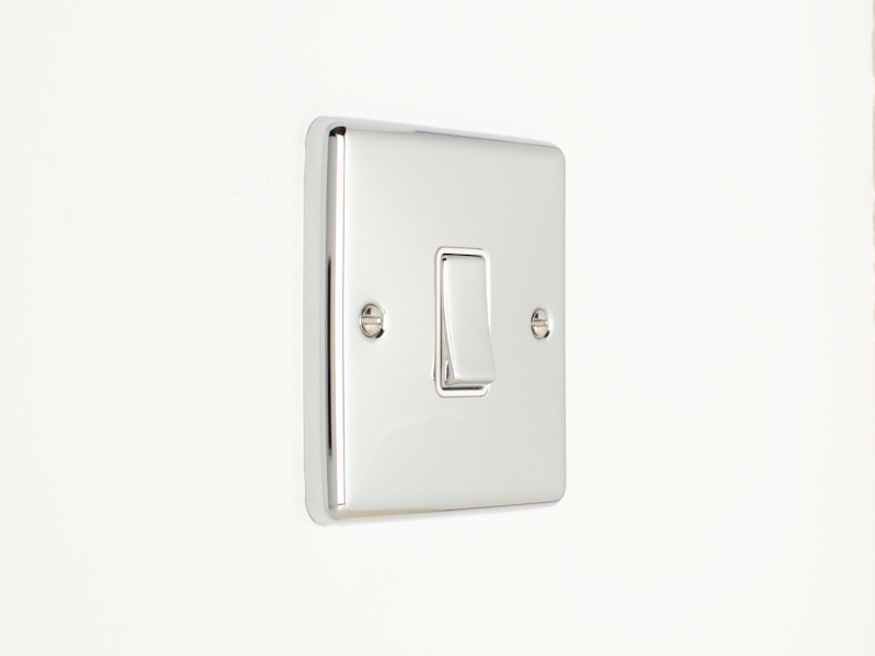 Polished Chrome Intermediate 1 Gang 3 Way Switch
