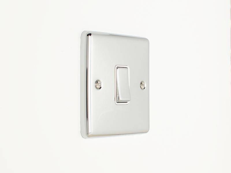 Polished Chrome Intermediate 1 Gang 3 Way Switch