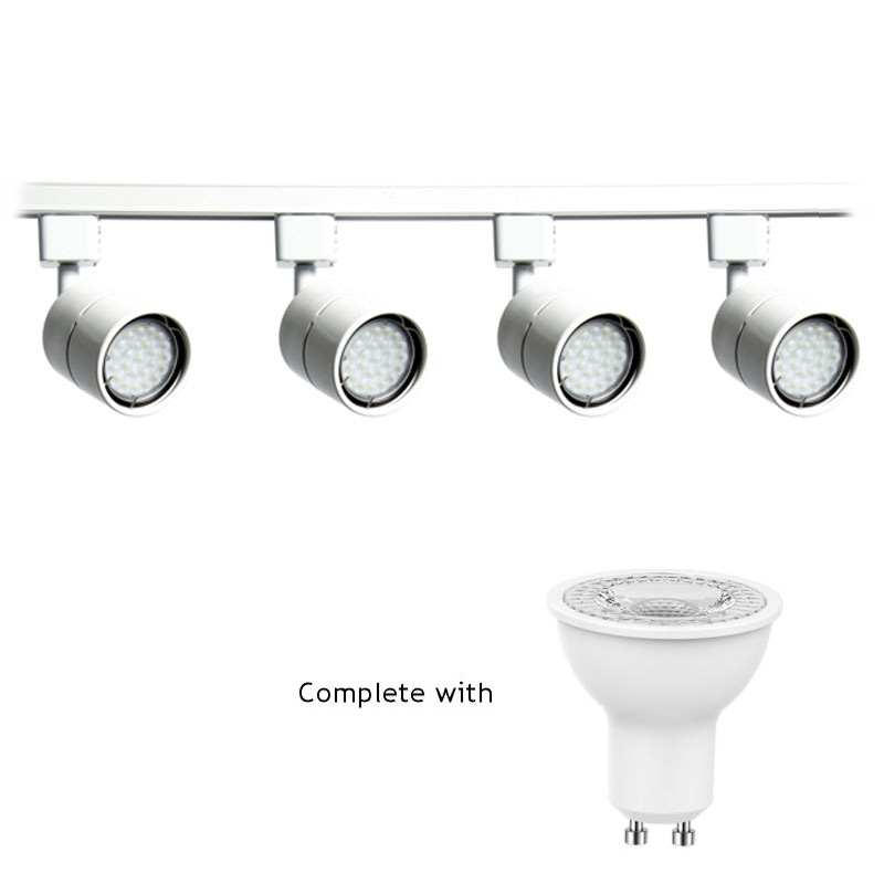 5W Non Dimmable LED GU10 Track Lighting Kit