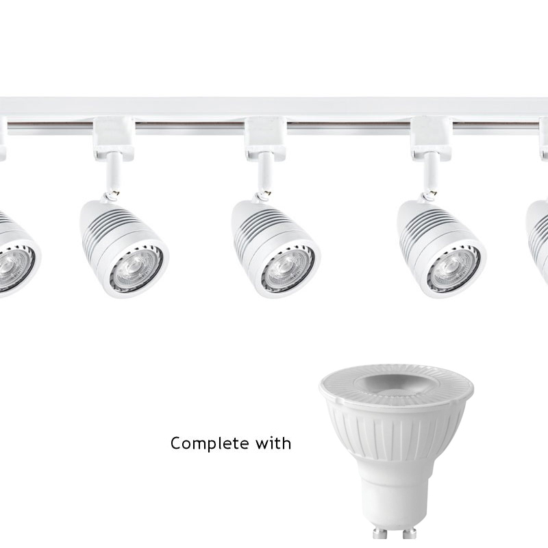 Megaman 5W Dimmable LED Bullet/Acorn Gu10 Track Lighting Kit