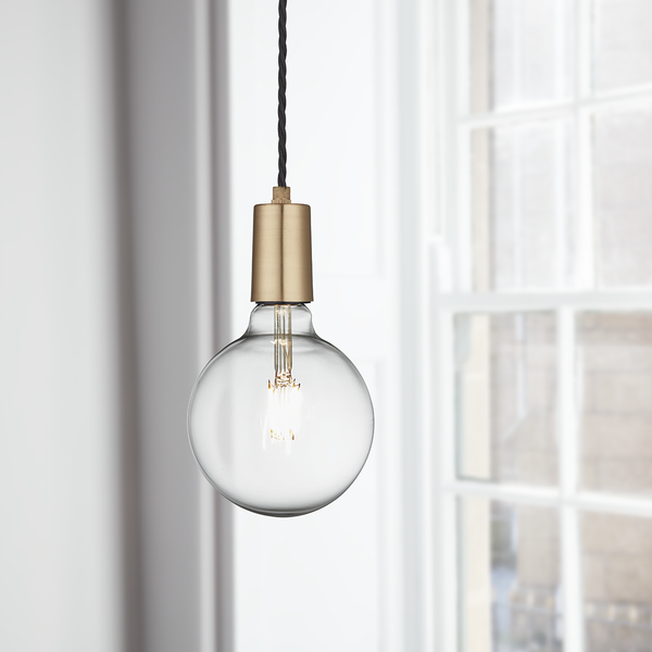 Industville Vintage Sleek Edison 1 - Wire Pendant - Brass