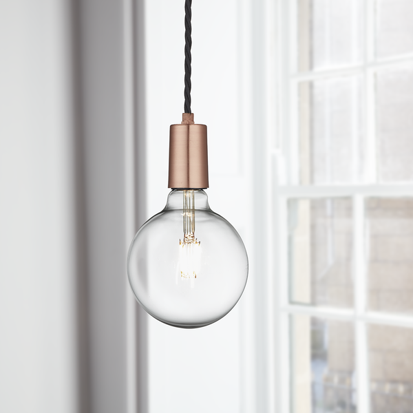 Industville Vintage Sleek Edison 1 - Wire Pendant - Copper