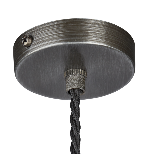 Industville Vintage Sleek Edison 1 - Wire Pendant - Pewter