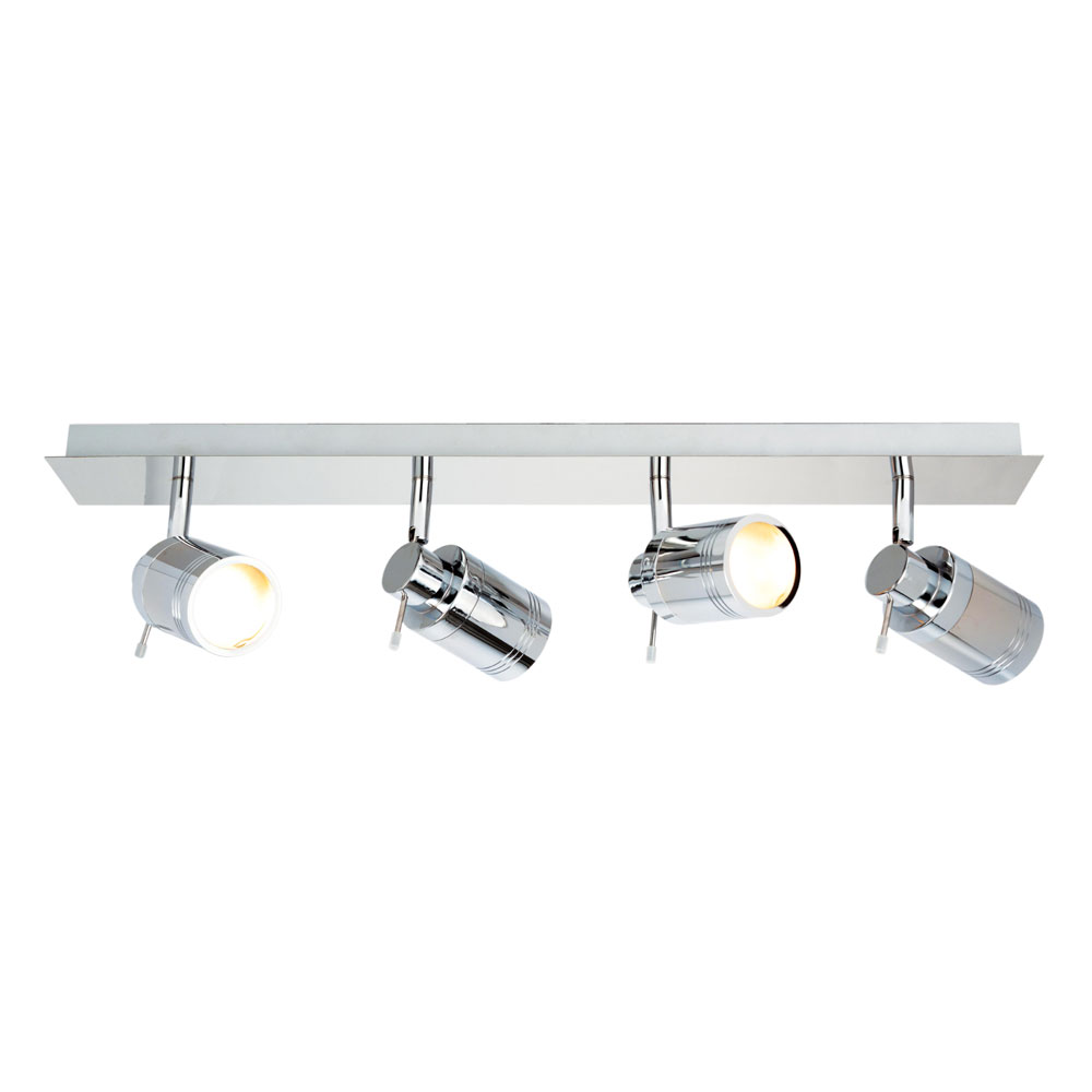 Forum Polished Chrome Scorpius Bathroom 4 Light Spotlight