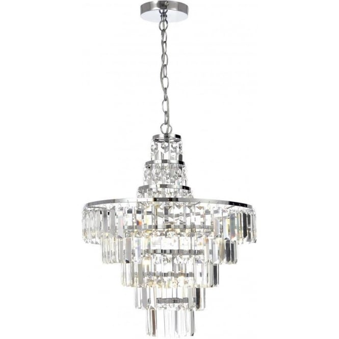 Spa Belle 4 Light Chandelier in Polished Chrome