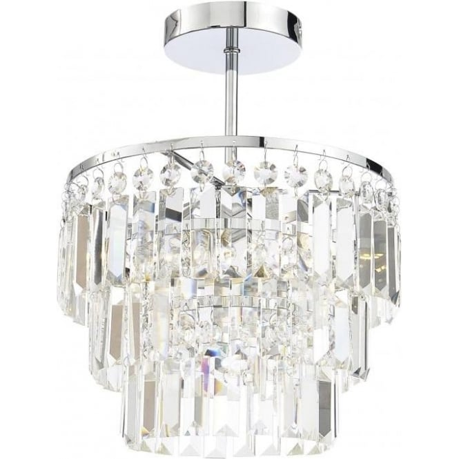 Spa Belle 3 Light Chandelier in polished Chrome