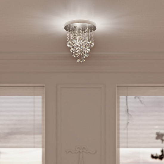 Spa Celeste Iris 4 Light Flush Ceiling Fitting in Chrome