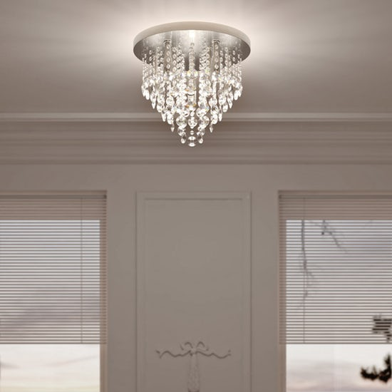 Spa Celeste Iris 9 Light Flush Ceiling Fitting in Polished Chrome