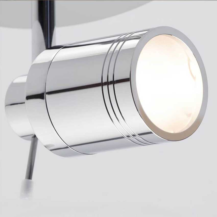 Forum Polished Chrome Scorpius Bathroom Single Spotlight