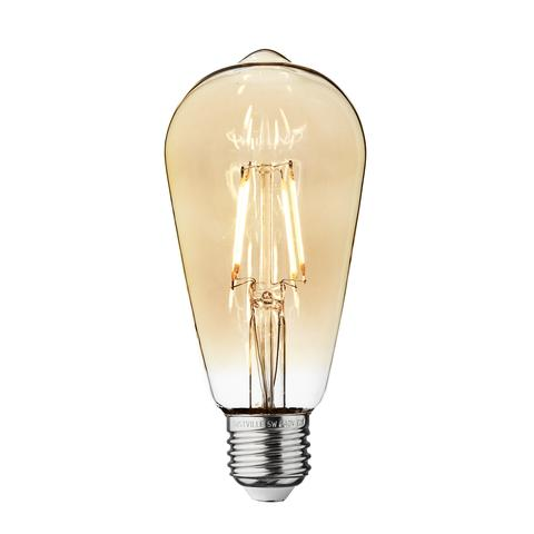 5w Dimmable Vintage E27 LED Filament ST64 Pear