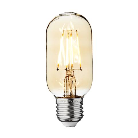 5w Dimmable Vintage E27 LED Filament T45 Tube
