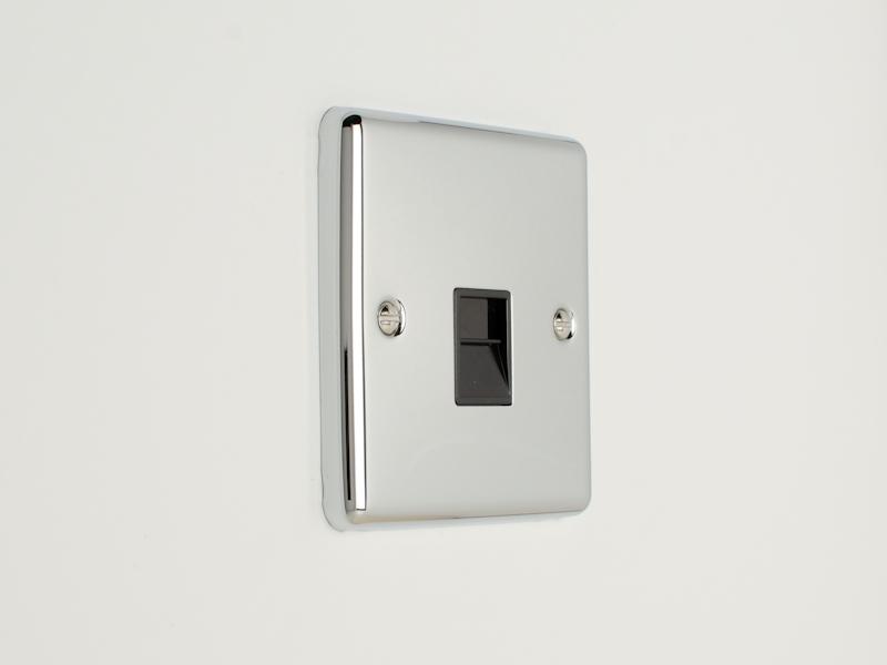 Polished Chrome Telephone Extension/Slave Socket