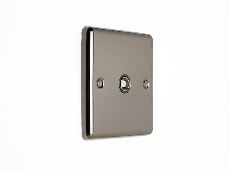 Black Nickel TV Coax Socket
