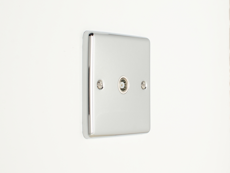 Polished Chrome TV Coax Socket