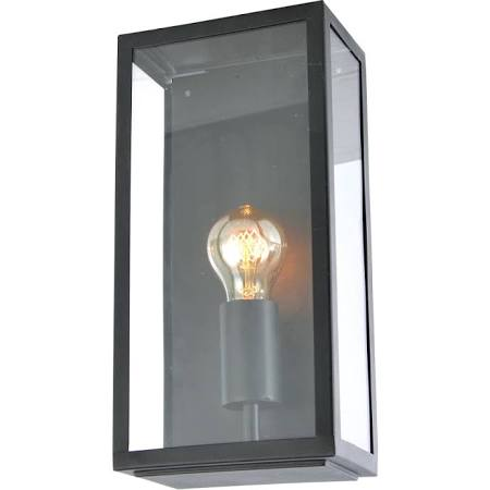 Forum Outdoor Minerva Box Wall Lantern in Black