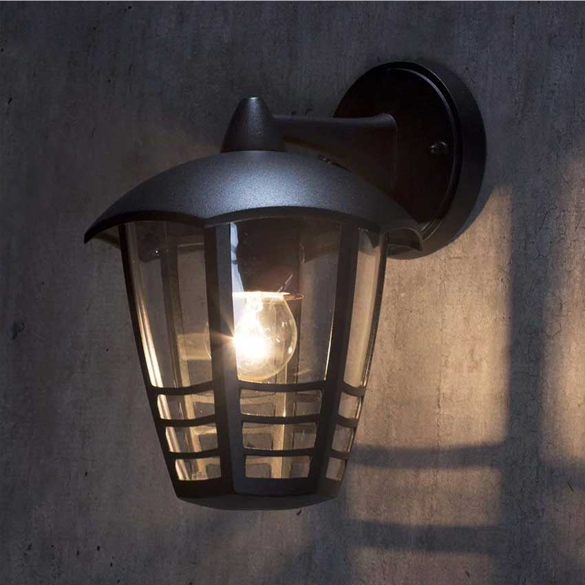 Perdita Single Outdoor Wall Lantern in Black
