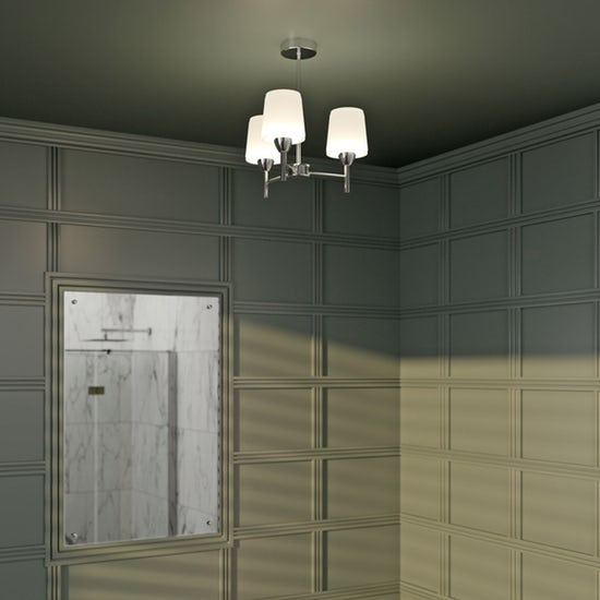 Forum Aquarius Chrome 3 Light Ceiling fitting