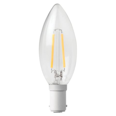 3w Non Dimmable B15 LED Filament Candle Bulb