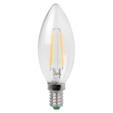 3w Dimmable E14 LED Filament Candle Bulb
