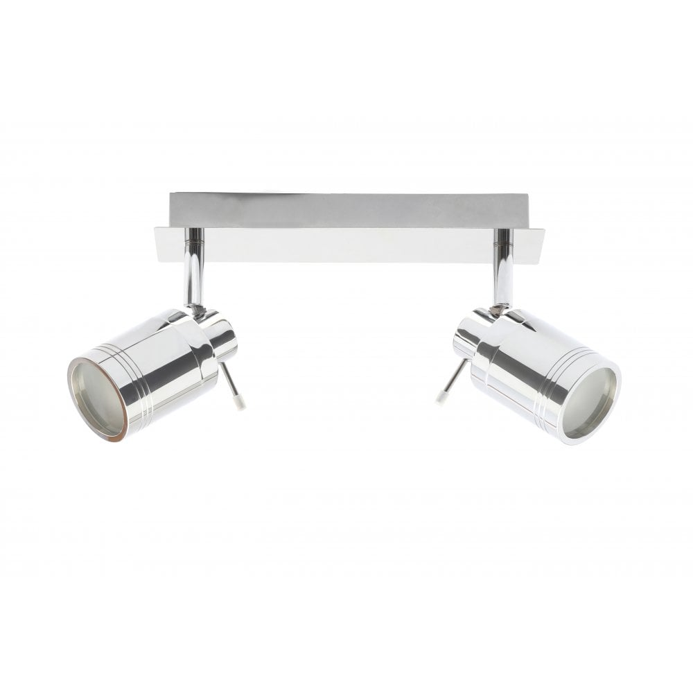Forum Polished Chrome Scorpius Bathroom 2 Light Spotlight