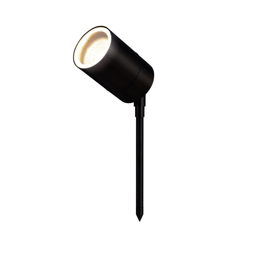 Leto Single Outdoor Ground Spike Light in Black