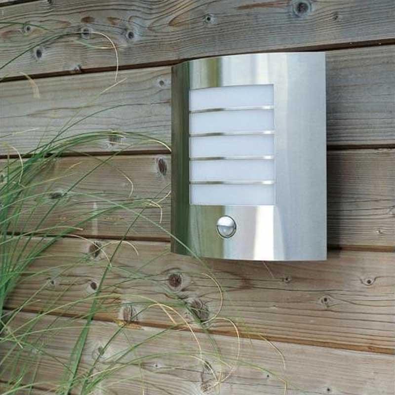 Sigma Single Light Panel Slatted Outdoor Wall Fitting PIR Sensor