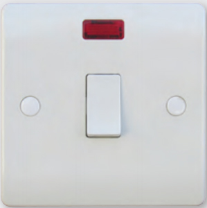 20 Amp Double Pole Switch with Neon