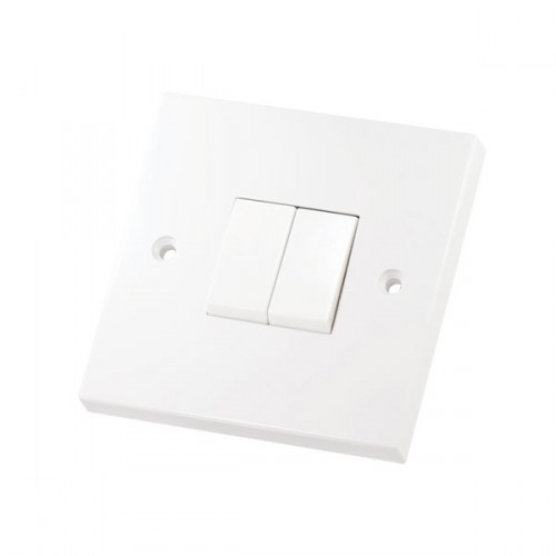 2 Gang 2 Way 10 Amp Switch Square Edge