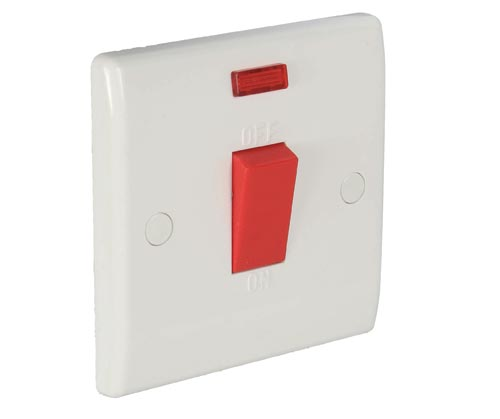 45 Amp Double Pole Switch with Neon