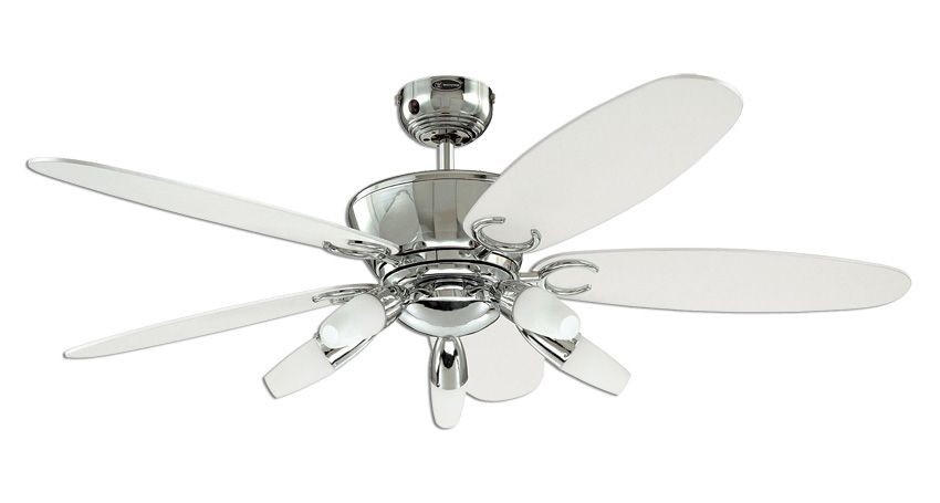 Westinghouse Arius 52 inch 132cm Chrome Ceiling Fan With 5 Lights and Remote Control