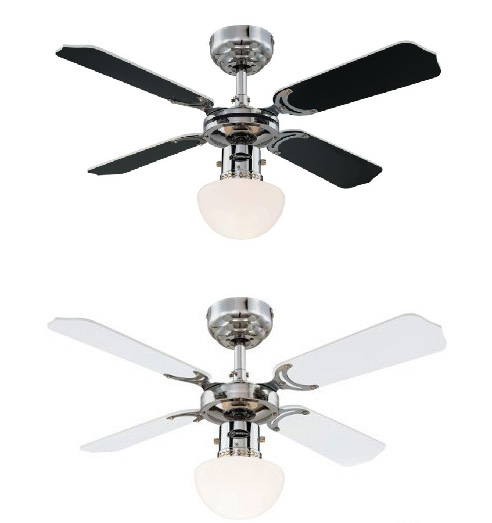Westinghouse Portland Ambiance 36 inch 90cm Chrome Ceiling Fan With Light